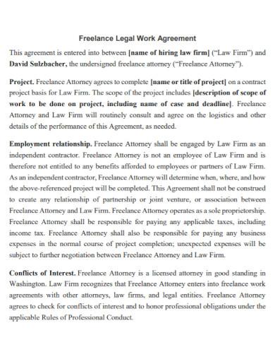 freelance legal work agreement