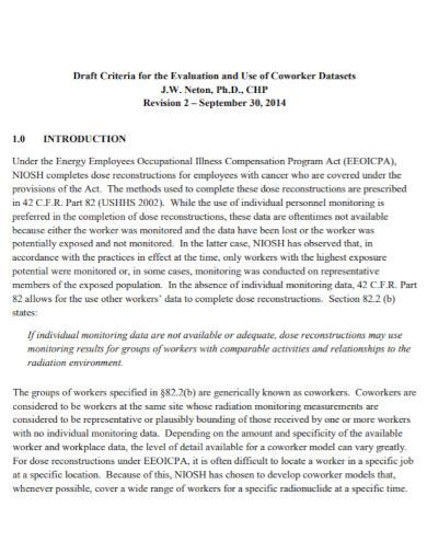 general co worker evaluation