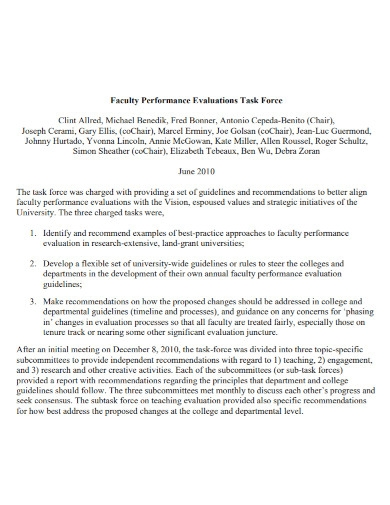 general faculty performance evaluation