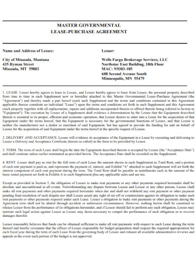 governmental lease purchase agreement