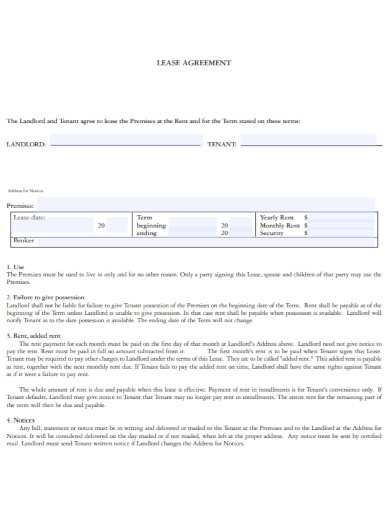 house lease agreement in pdf