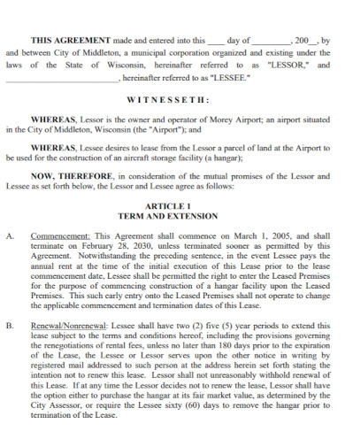 land lease agreement in pdf