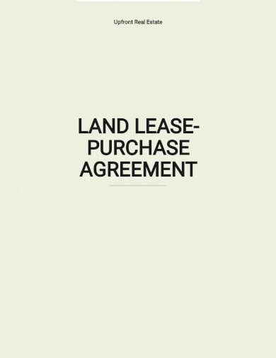 land lease purchase agreement template