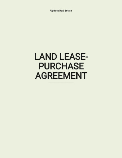 land lease purchase agreement templates