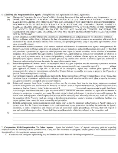 long term rental property agreement