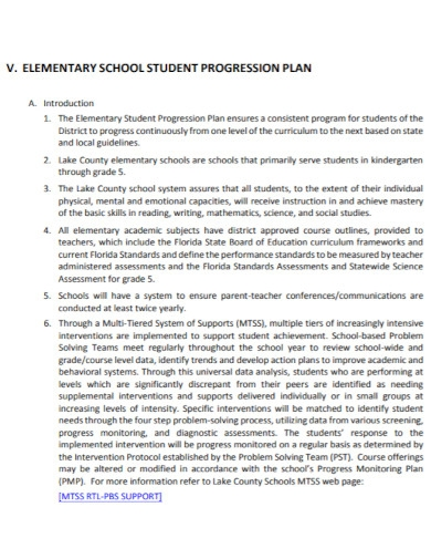 middle grades student progression plan