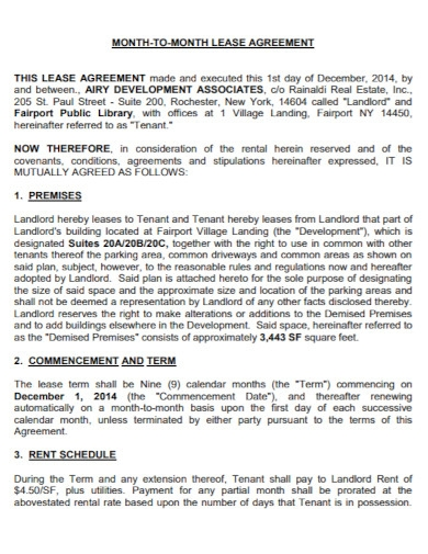 month to month lease agreement in pdf