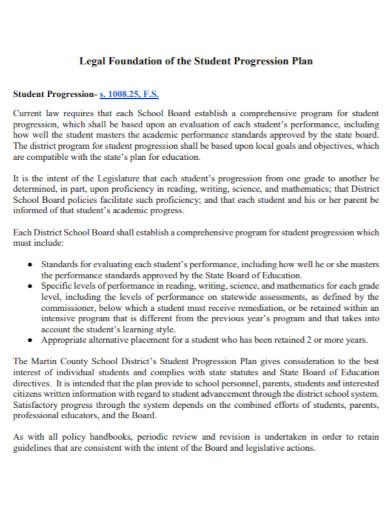 printable student progression plan