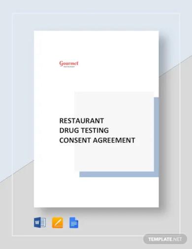 restaurant drug testing consent agreement template