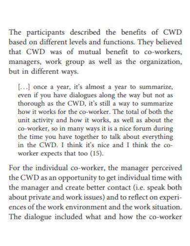 standard co worker evaluation