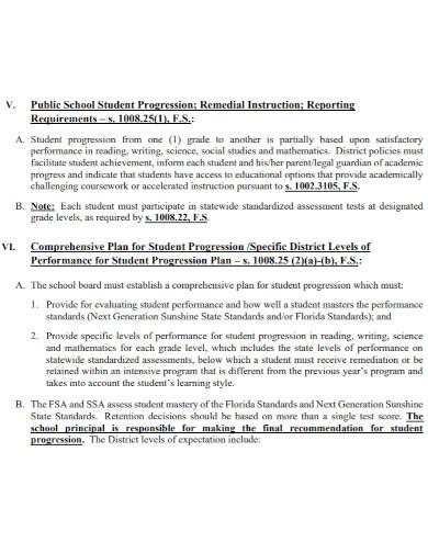 student progression plan in pdf