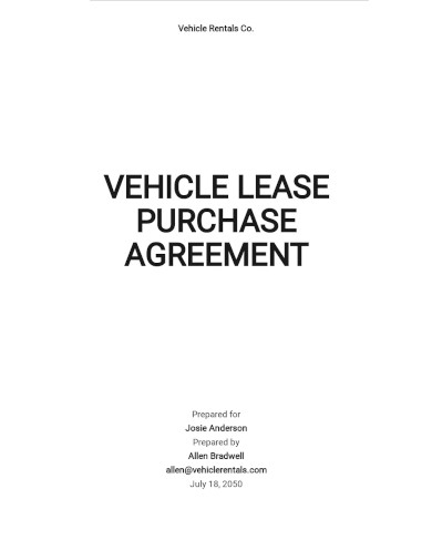 vehicle lease purchase agreement template