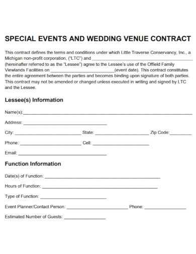 draft wedding event contract