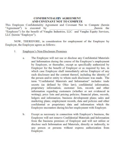 employee employment confidentiality agreement