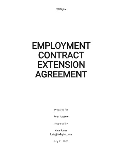 employment contract extension agreement template