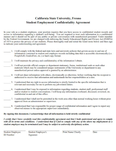 professional employment confidentiality agreement
