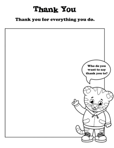 thank you note for kids template