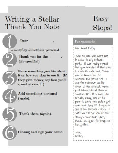 thank you note for kids in pdf
